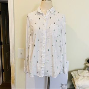 OLD NAVY cactus button down